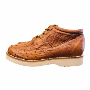 Exotic Ostrich Leather Chukka Boots NEW